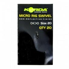Вертлюг Korda Micro Rig Swivel №20